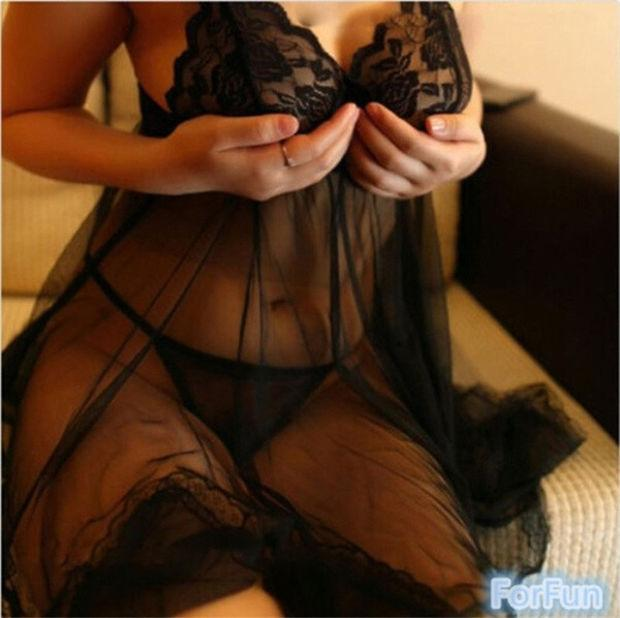 New Fashion Sexy Women's Lingerie Dress Lace Underwear Spagetti Strap Babydoll Sleepwear