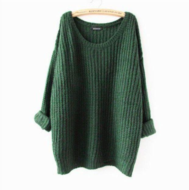 Black Friday Women's Clothes Tops Fashion Oversized Pullovers Casual Long Sleeve Jumpers Loose Knitted Pullover Sweater