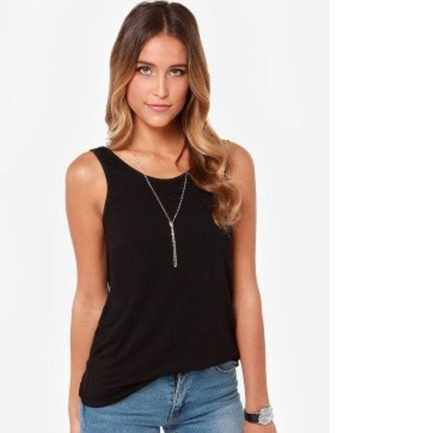 Fashion Women Back Deep V Sexy Backless Vest Tank Sleeveless Slim Tops womens Tshirt