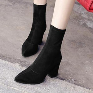 Bottines Chaussettes Pointues
