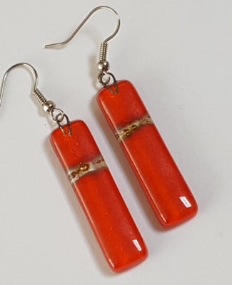 For Mandy  Long Red Earrings. Red Dangle Earrings. long Drop Earrings. Gift under 20. Handmade gift.