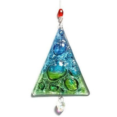 Glass holiday ornament