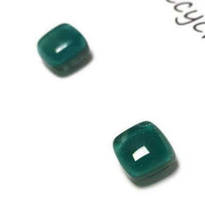 Post Earrings. Recycled glass Earrings. Teal Earrings Studs