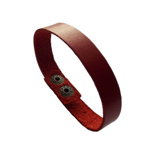 Infinito Bracelet. Thin Leather band. Reclaimed Leather cuff. Colorful Wristband. Wristcuff