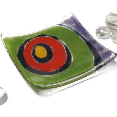Fun and Colorful Small Tray. Mini Ring Holder. Fun Small jewelry Dish for decoration.