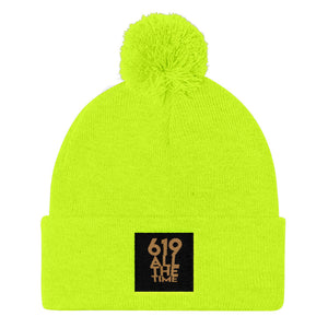 619 All The Time Pom Pom Knit Cap