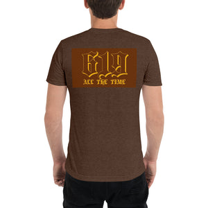 Old English on back t-shirt