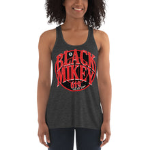 Load image into Gallery viewer, Black Mikey Women's Flowy Racerback Tank