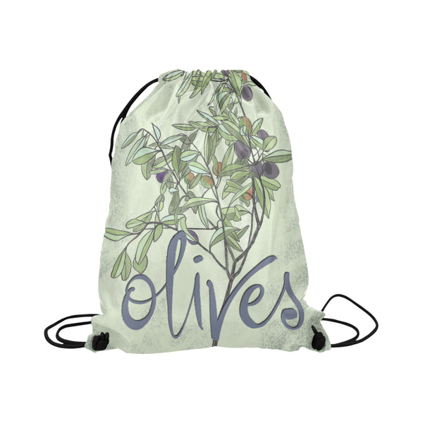drawstring bag - OLIVES
