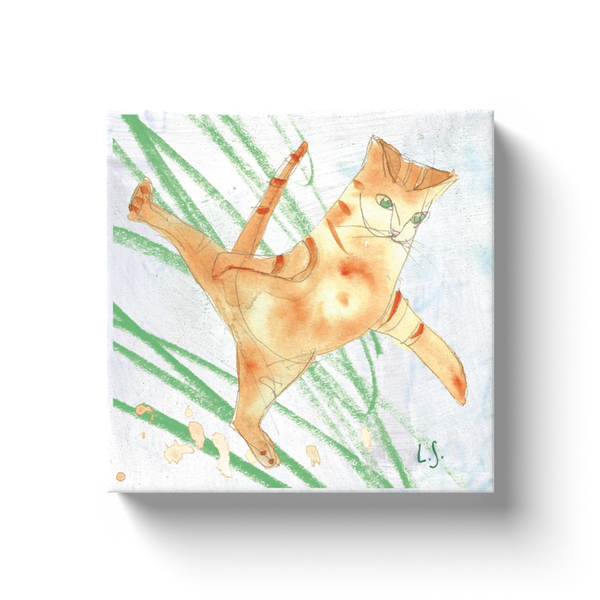 Dancing Cat canvas wrap