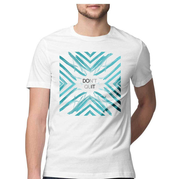 SuprCrowd Don't Quit White Half Sleeve T-shirt - SuprCrowd