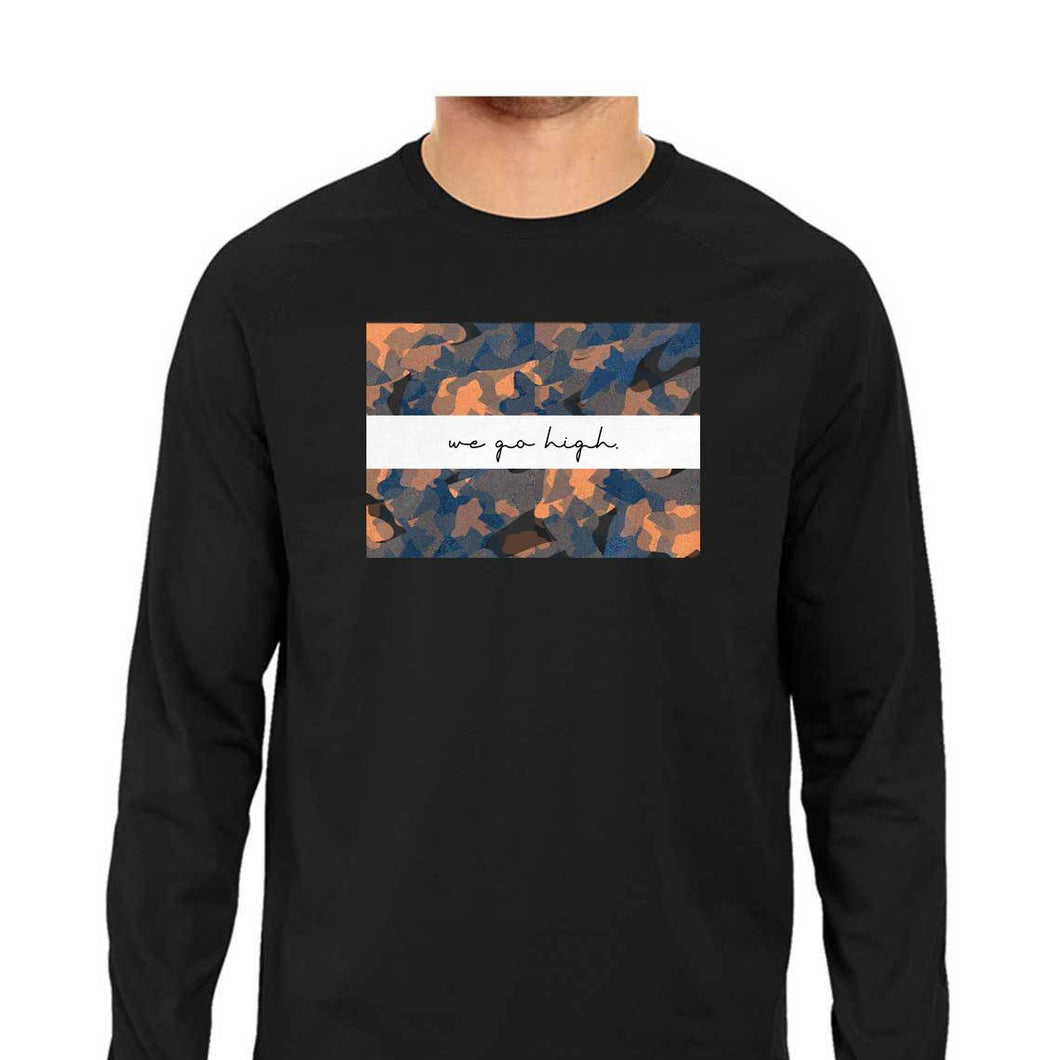 SuprCrowd Full Sleeve Light Camo T-shirt for Men