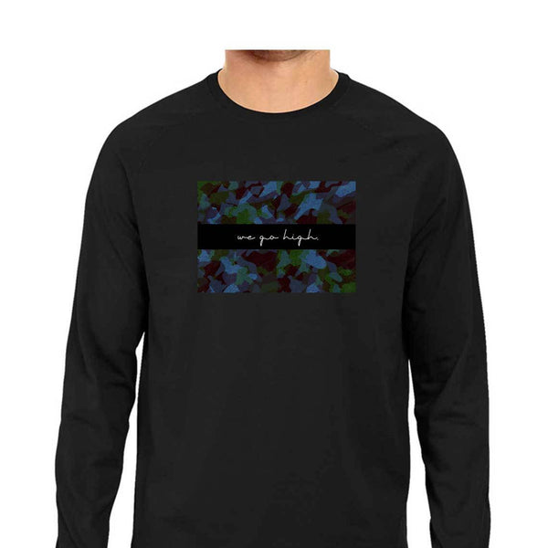 SuprCrowd Full Sleeve Dark Camo T-shirt for Men - SuprCrowd
