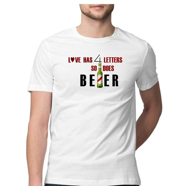 Love and Beer Light colour T-shirts for Men by SuprCrowd - SuprCrowd