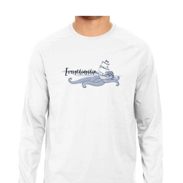 SuprCrowd Everything Ship Grey and White Full sleeve T-Shirt for Men - SuprCrowd