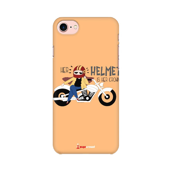 Her Helmet is her Crown Mobile Phone covers -SuprCrowd - SuprCrowd