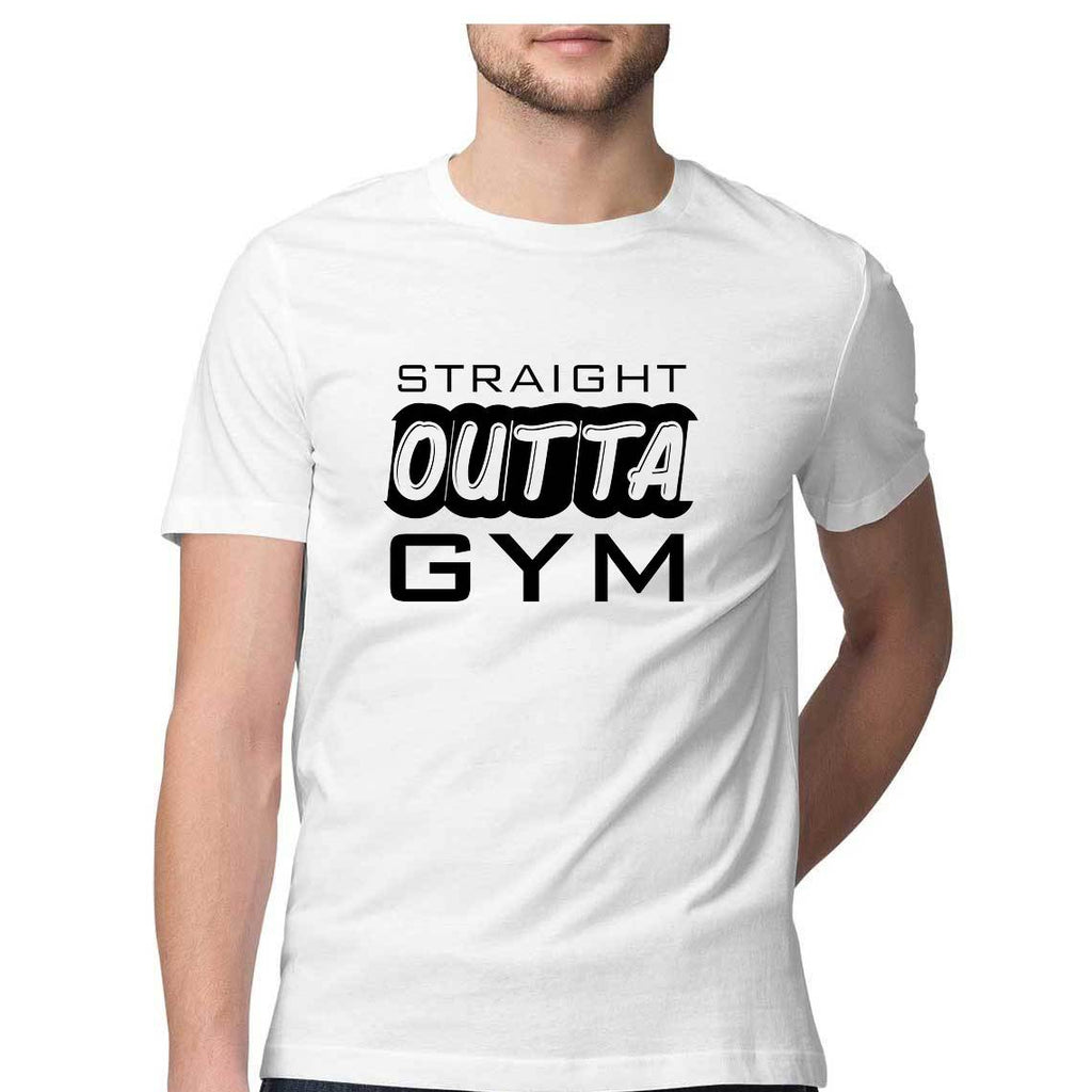 Straight Out of Gym T-shirts for Men - SuprCrowd
