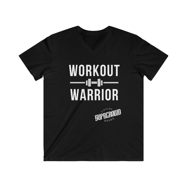 Workout Warrior Men's Fitted V-Neck Short Sleeve Tee (UK) - SuprCrowd