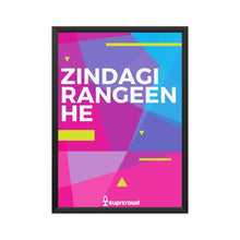 Load image into Gallery viewer, Zindagi Rangeen He 2019 SUPRCROWD Posters - SuprCrowd