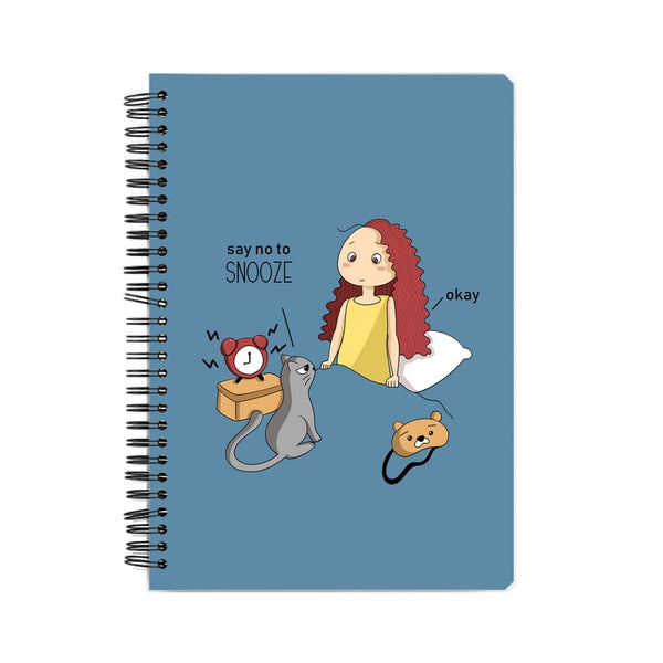 Say no to Snooze Suprcrowd A5 Unruled Notebook - SuprCrowd