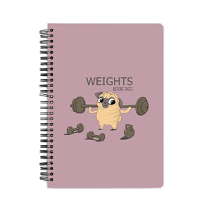 Weights before dates Suprcrowd A5 Unruled Notebook - SuprCrowd