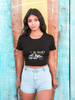 Her Helmet is her Crown Black Crop top for Women from SuprCrowd - SuprCrowd