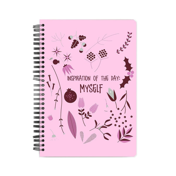 I am my own Inspiration pink Suprcrowd A5 Unruled Notebook - SuprCrowd