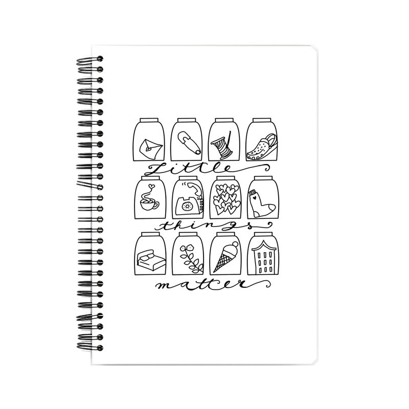 Little things matter Suprcrowd A5 Unruled Notebook - SuprCrowd