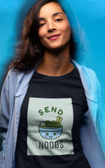 SEND NOODS Round neck T-Shirts for Women - SuprCrowd