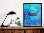 SUPRCROWD GOOD VIBES A3/A4 WITH AND WITHOUT FRAME POSTER - SuprCrowd