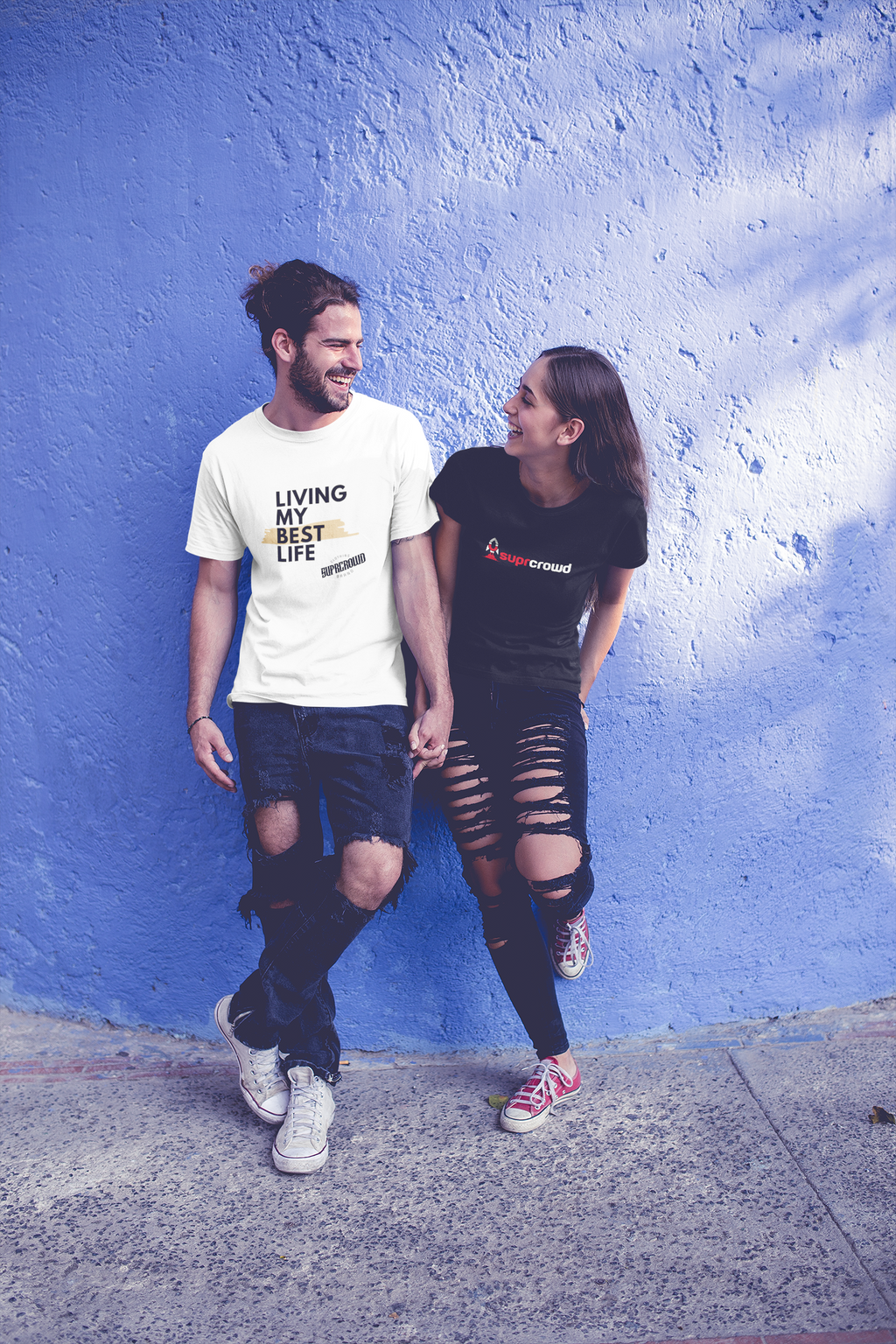 LIVING MY BEST LIFE- UNISEX T-SHIRTS - SuprCrowd