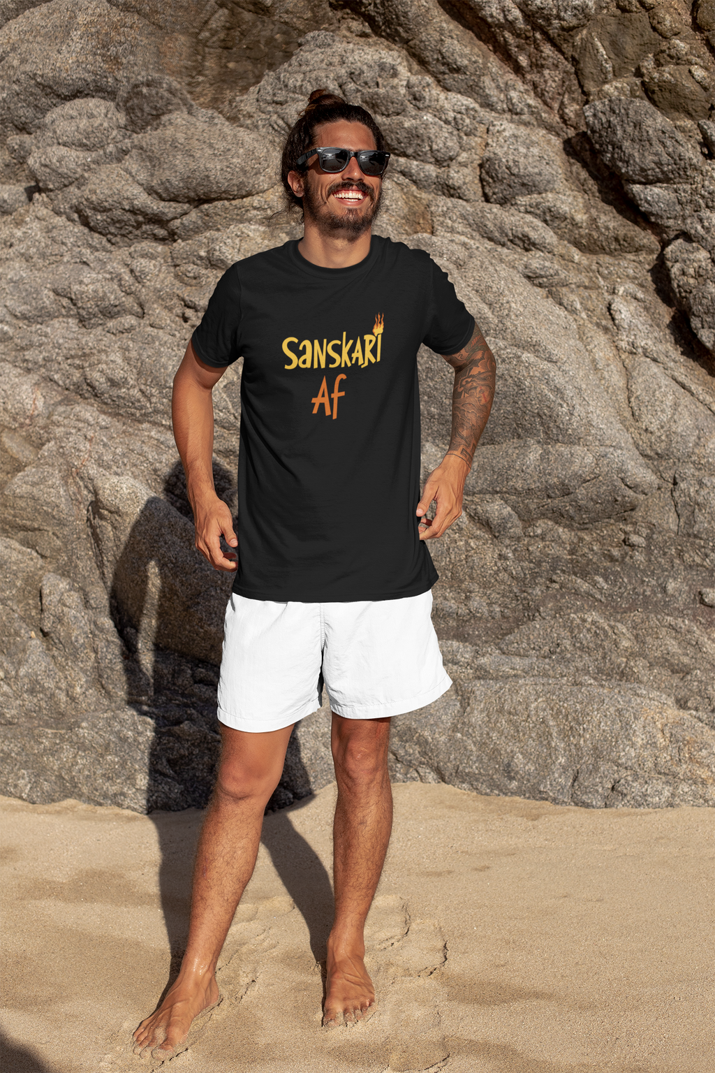 Sanskari AF- T-SHIRTS FOR MEN - SuprCrowd