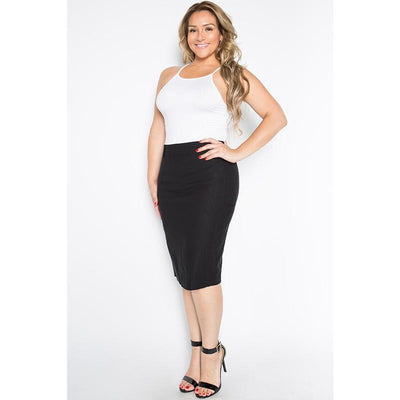 Black side detail Pencil Skirt