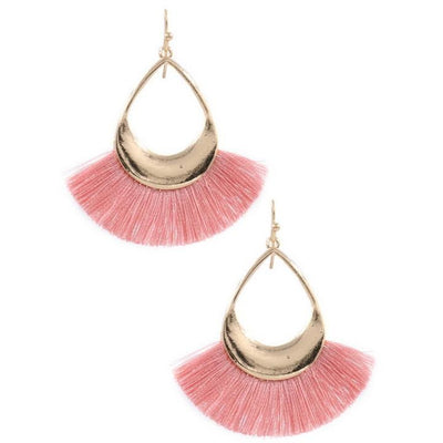 Tear Drop Fringe Earrings