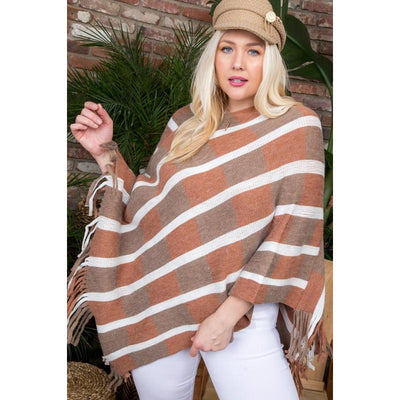 Multi Color Tassel Poncho