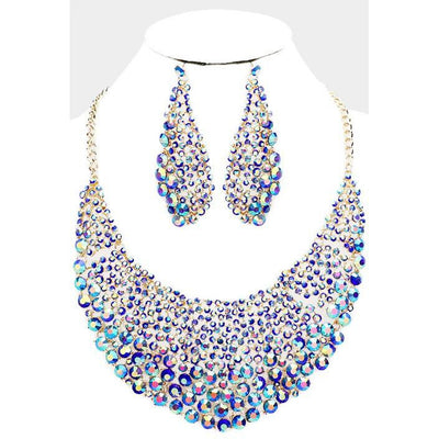 Crystal Glass Necklace Set