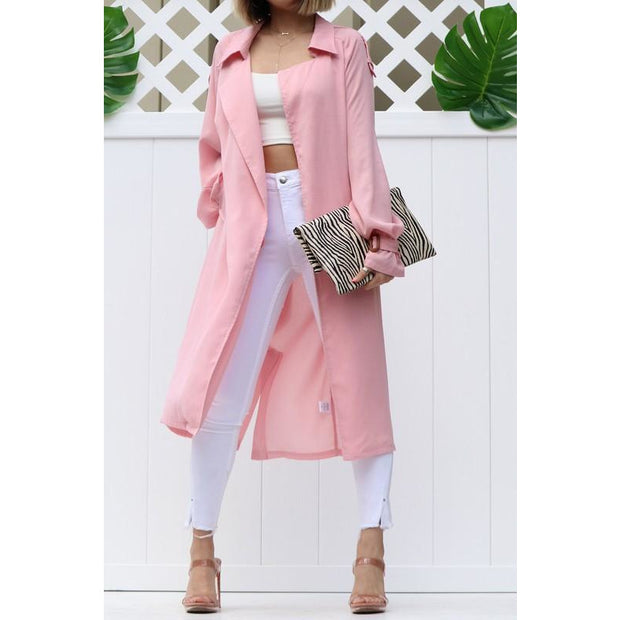 Lightweight trench coat with belt- FINAL SALE