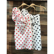 Polka Dot Ruched Dress