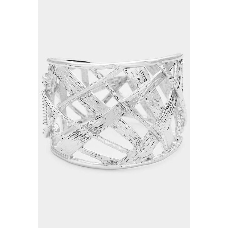 Wide Hinged Bracelet