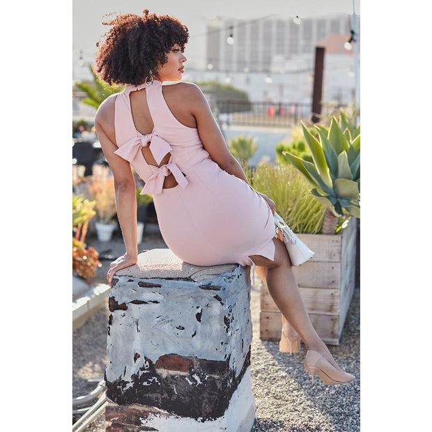 Blush Tie Back Dress