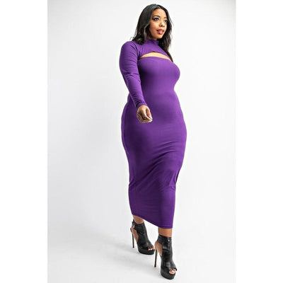 Two-Piece Eggplant Dress
