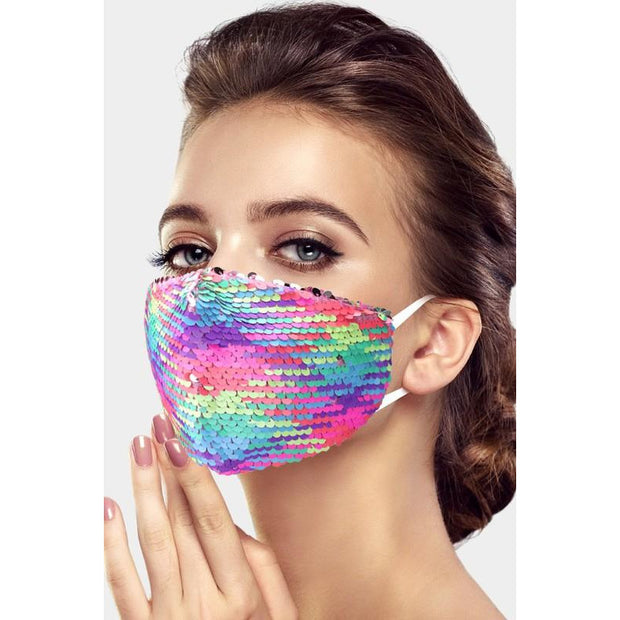 Solid Sequin Mask