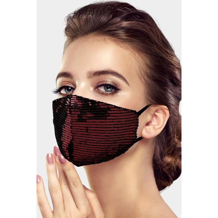 Breathable Sequin Mask