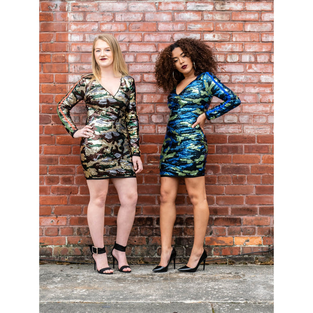 Camo Sequin Dress