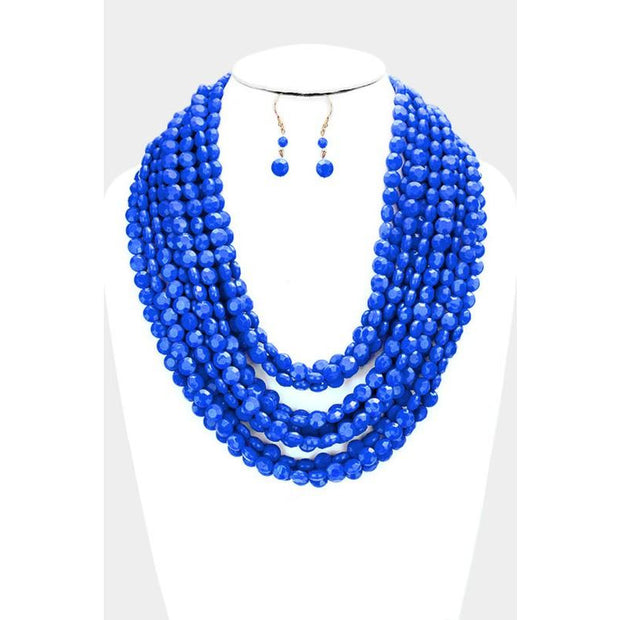 Multi Layered Beaded Necklace