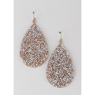 Bling Tear Drop Earrings