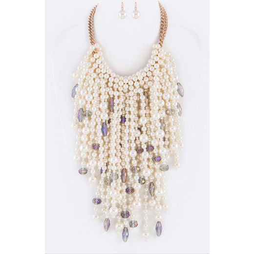 Thousand Pearl and Gray Iconic Necklace Set
