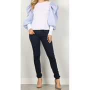 Puffy Sleeve Top- FINAL SALE