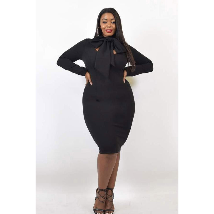Tie Knot Pencil Dress