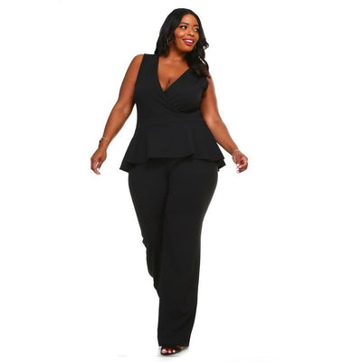 Peplum Jumpsuit - Final Sale